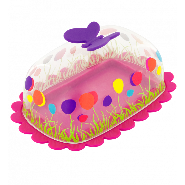 Butter dish - Butter Fly Pink