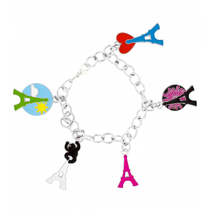 Charmant - Bracelet charms Eiffel Tower