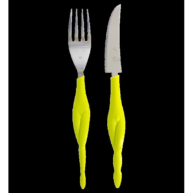 Fusion Food - Set de 2 couverts pour adulte Vert