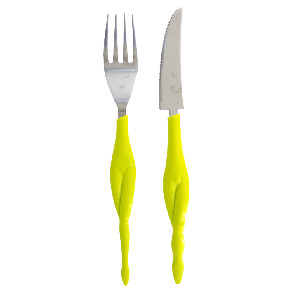 Fusion Food Knife And Fork Pylones