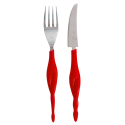 Fusion food - set of 2 knives and forks for adult