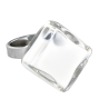 Losange Nano Milk - Glass ring White