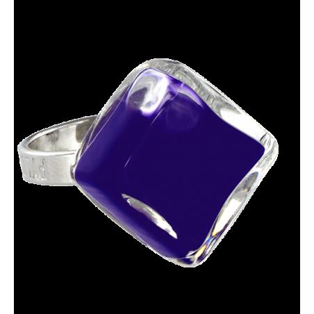 Anello in vetro - Losange Nano Milk