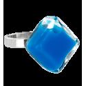 Losange Nano Milk - Bague en verre