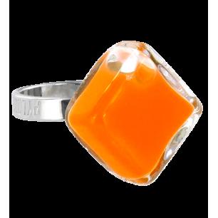 Bague en verre - Losange Nano Milk