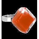 Anello in vetro - Losange Nano Milk Arancione