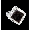 Losange Nano Billes - Glass ring