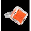 Anello in vetro - Losange Nano Billes Rosso