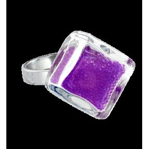 Bague en verre - Losange Nano Billes