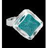 Losange Nano Billes - Glasring Türkis