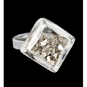 Bague en verre - Losange Nano Paillettes