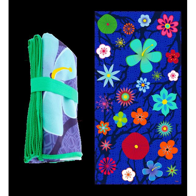 Body DS - Serviette microfibre Blue Flower