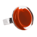 Bague en verre - Cachou Mini Milk Violet foncé