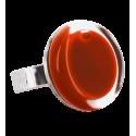Anello in vetro - Cachou Mini Milk Rosso scuro