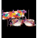 Lunettes X4 Carrées Flowers - Lunettes de correction 100