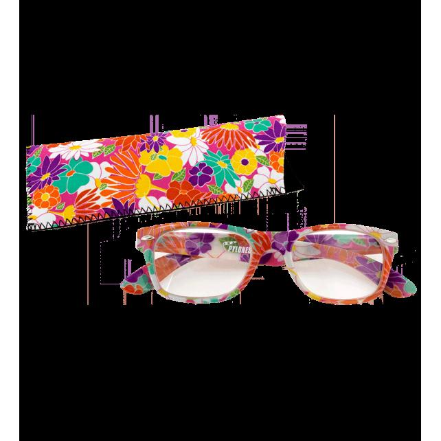 Korrekturbrille - Lunettes X4 Carrées Flowers 300