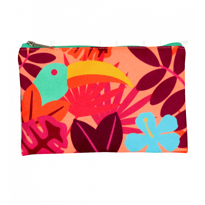 Zip pouch -Tropical Zip