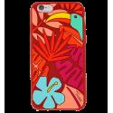 Tropical Jungle - Coque souple pour iPhone 6 Rot