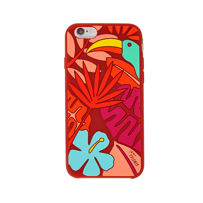 Tropical Jungle - Coque souple pour iPhone 6 Red