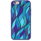 Tropical Leaf - Coque souple pour iPhone 6 Bleu