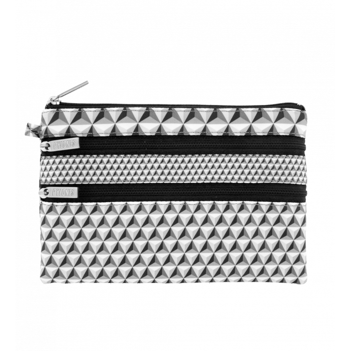 Zip My Pocket - Pochette 3 zips Schwarz
