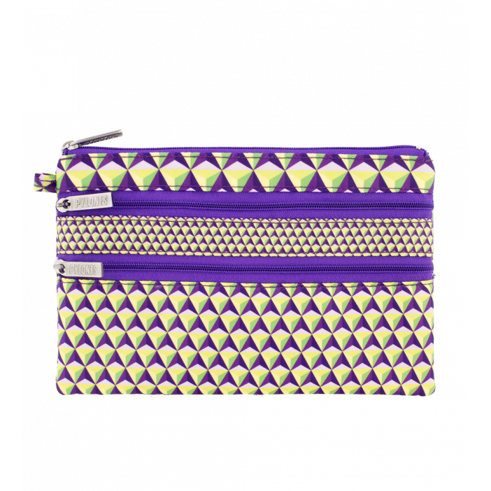 Zip My Pocket - Pochette 3 zips Violet