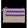Zip My Pocket - Pochette 3 zips Purple