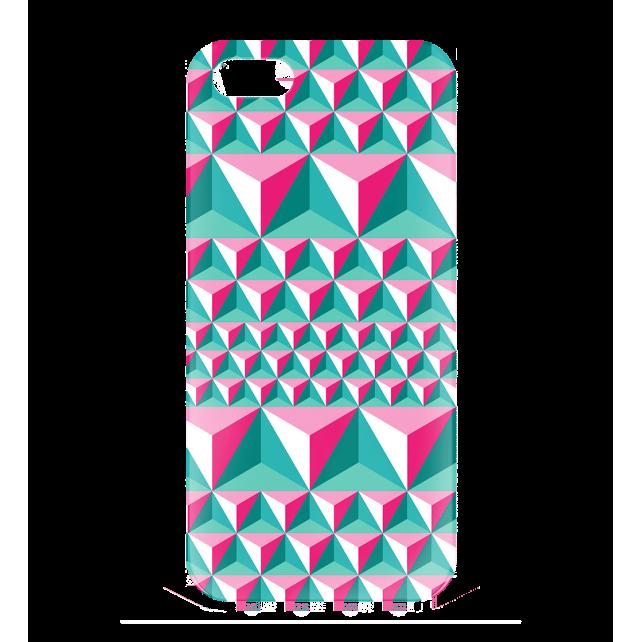 Cover per iPhone 5, 5S, SE - I Cover 5 Diamonds Effect Rosa