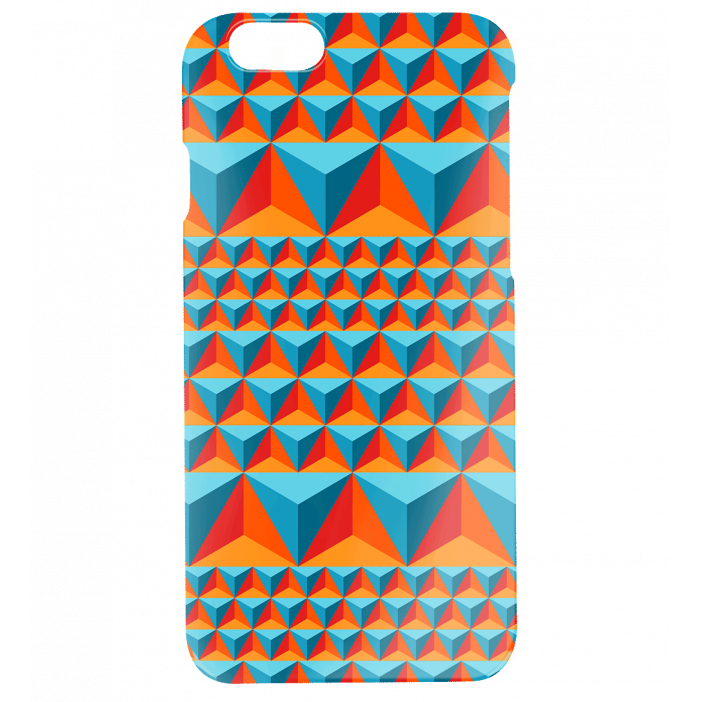 Case for iPhone 6, 6S - I Cover 6 Diamonds Effect Blue