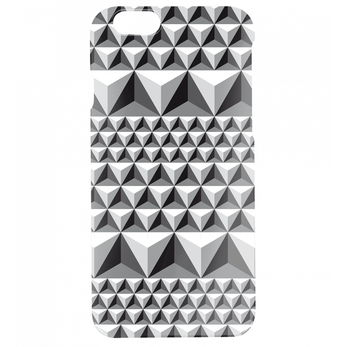 Coque pour iPhone 6, 6S - I Cover 6 Diamonds Effect Noir