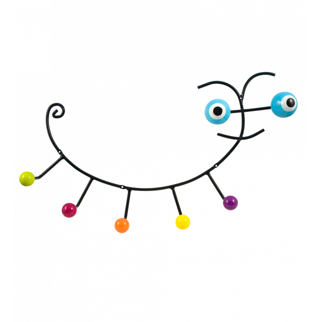 Caterpillar - patère mural Bleu
