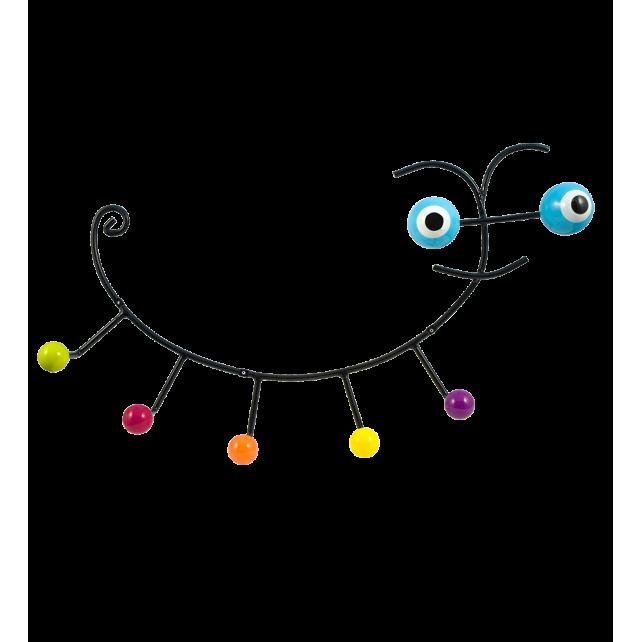 Wandkleiderhaken 60's - Caterpillar Blau