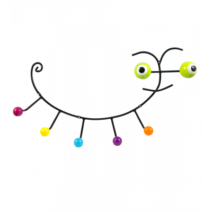 Wandkleiderhaken 60's - Caterpillar - Grün