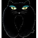 Cat My Neck - Coussin de voyage Black Cat