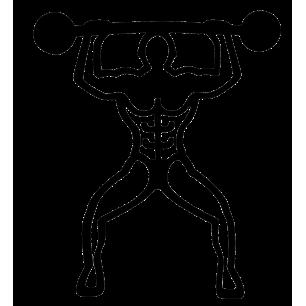 Bodybuilder - Magnetischer Topfuntersetzer - Schwarz