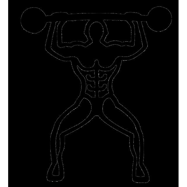 Bodybuilder - Dessous de plat magnétique Schwarz