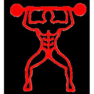 Bodybuilder - Magnetischer Topfuntersetzer - Rot
