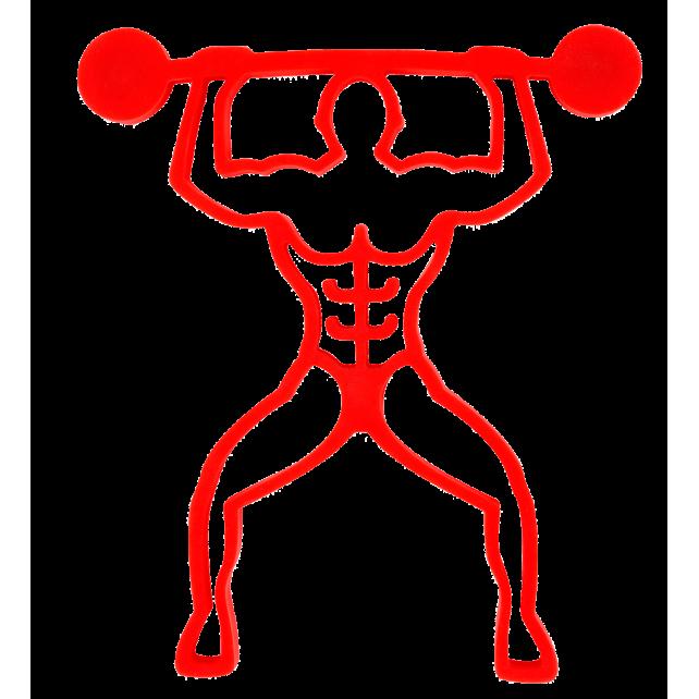 Bodybuilder - Magnetischer Topfuntersetzer Rot
