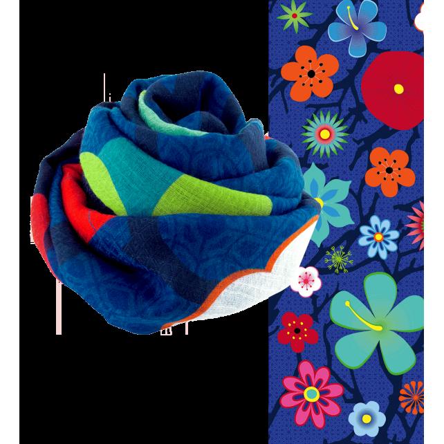 Escapade - Foulard Blue Flower