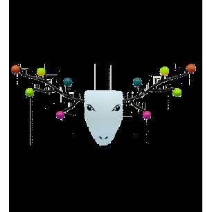 Miroir patère 60's - My Deer - Multicolore