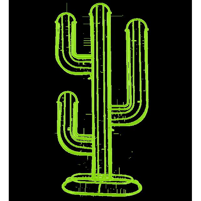 Cactus - Porte capsules Nespresso Vert