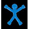 Mini Qman - Aimant opaque Bleu