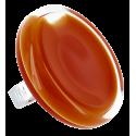 Bague en verre - Cachou Giga Milk Blanc