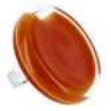 Bague en verre - Cachou Giga Milk Bubble Gum