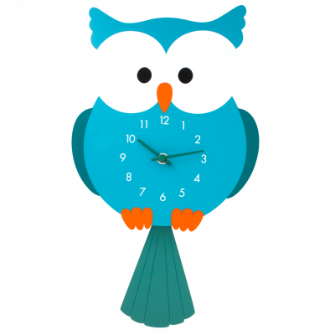 Uhr - Dancing Clock - Eule