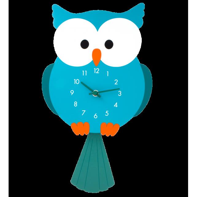 Uhr - Dancing Clock Eule