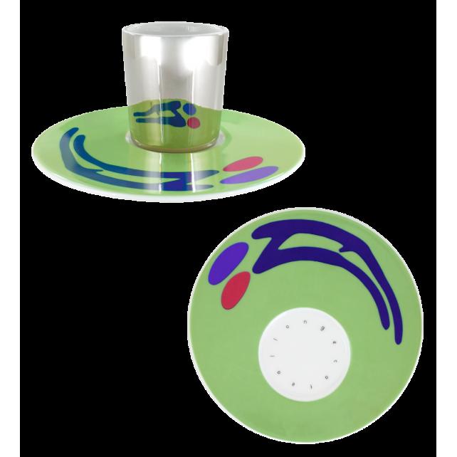 Cup and saucer - Café Allongé Green