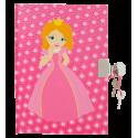 Princesse - carnet avec cadenas Rosa