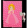 Princesse - carnet avec cadenas Pink