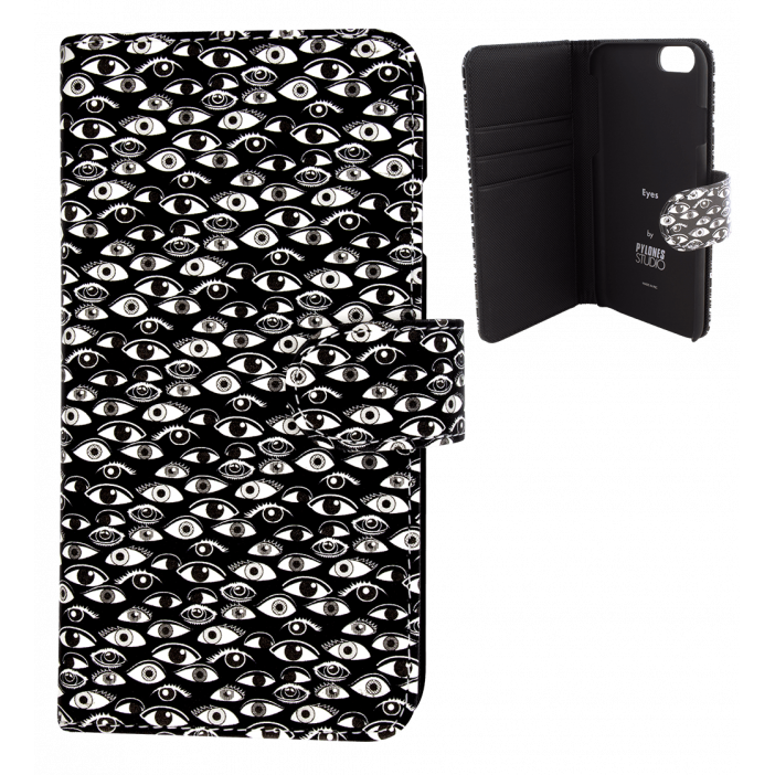 Flap cover for iPhone 6, 6S - Iwallet Eye
